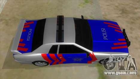 Elegy NR32 Police Edition White Highway para visión interna GTA San Andreas