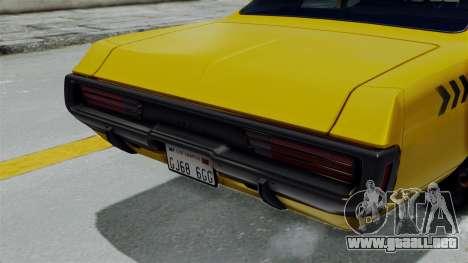 Dodge Polara 1971 Kaufman Cab para la visión correcta GTA San Andreas