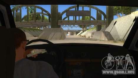 Toyota Hilux Militia para visión interna GTA San Andreas