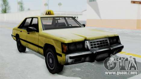 Taxi from GTA Vice City para GTA San Andreas vista posterior izquierda