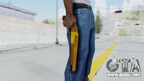 Double Barrel Shotgun Gold Tint (Lowriders CC) para GTA San Andreas tercera pantalla