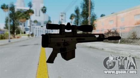 SCAR-20 v1 Folded para GTA San Andreas segunda pantalla