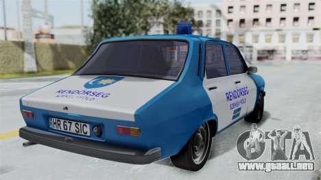 Dacia 1300 Police para GTA San Andreas left