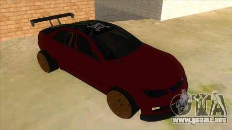 GTA V Sentinel RS MKII para GTA San Andreas vista hacia atrás