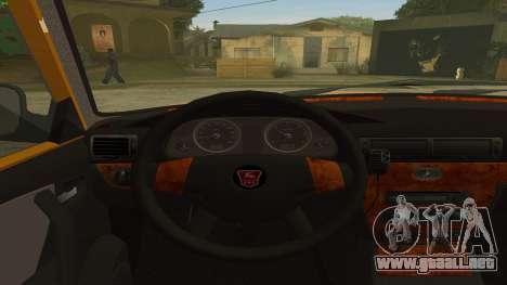 GAZ 31105 Volga Taxi FIV para la visión correcta GTA San Andreas