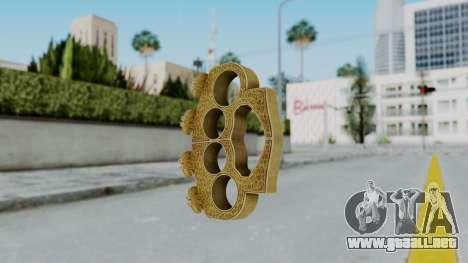 The Hater Knuckle Dusters from Ill GG Part 2 para GTA San Andreas segunda pantalla