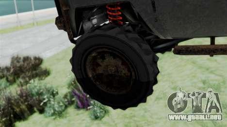GTA 5 Karin Rebel 4x4 Worn para GTA San Andreas vista posterior izquierda