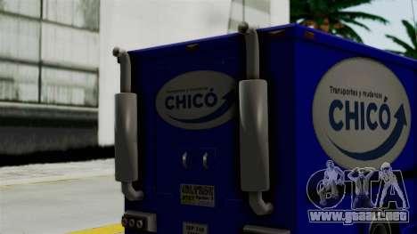 Chevrolet C30 Furgon Stylo Colombia para GTA San Andreas vista posterior izquierda