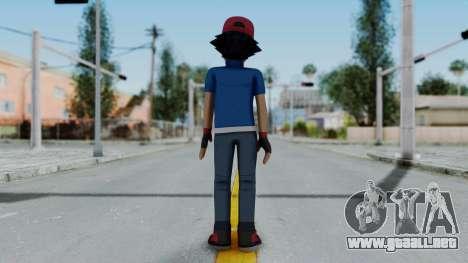 Pokémon XY Series - Ash para GTA San Andreas tercera pantalla