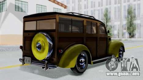 Ford V-8 De Luxe Station Wagon 1937 Mafia2 v1 para GTA San Andreas left