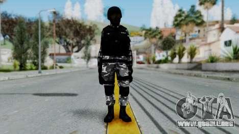 S.W.A.T v1 para GTA San Andreas segunda pantalla