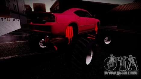 2006 Dodge Charger SRT8 Monster Truck para las ruedas de GTA San Andreas