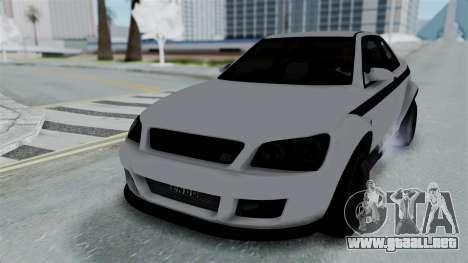 GTA 5 Karin Sultan RS Stock PJ para GTA San Andreas vista hacia atrás