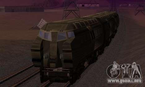 Batman Begins Monorail Train v1 para vista inferior GTA San Andreas