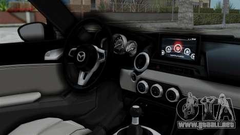 Mazda MX-5 Miata 2016 para la visión correcta GTA San Andreas