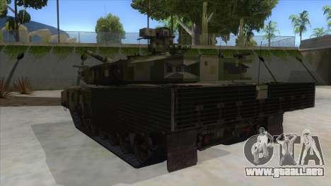 MBT52 Kuma para GTA San Andreas vista posterior izquierda