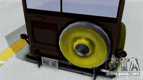 Ford V-8 De Luxe Station Wagon 1937 Mafia2 v2 para GTA San Andreas vista hacia atrás
