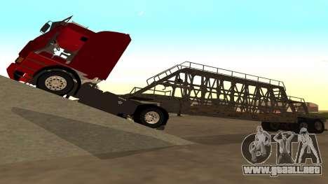 El trailer de los paneles para GTA San Andreas vista posterior izquierda