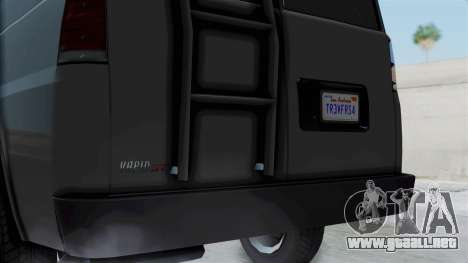 Vapid Speedo Newsvan para GTA San Andreas vista posterior izquierda