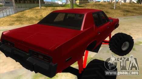 1974 Dodge Monaco Monster Truck para la visión correcta GTA San Andreas