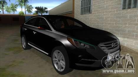 Iranian Hyundai Sonata Turbo para GTA San Andreas vista hacia atrás