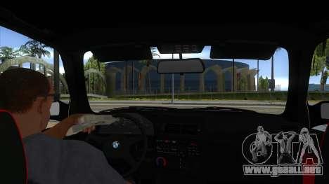 BMW M3 E30 1991 para visión interna GTA San Andreas
