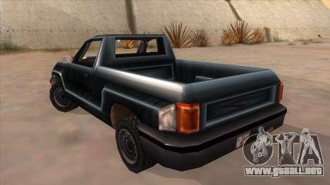 GTA III Bobcat Original Style para GTA San Andreas vista posterior izquierda