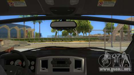Dodge Ram SRT DES 2012 para visión interna GTA San Andreas