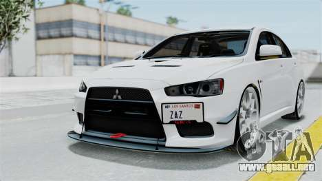 Mitsubishi Lancer Evolution X GSR Full Tunable para GTA San Andreas