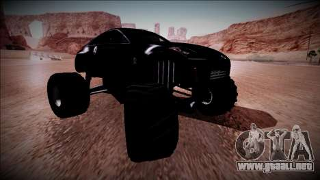 Nissan 350Z Monster Truck para vista inferior GTA San Andreas