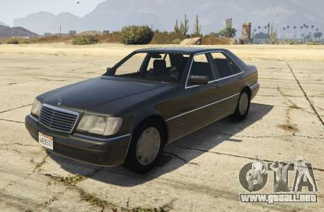 Mercedes-Benz S600 (W140) [Replace] v1.1 para GTA 5
