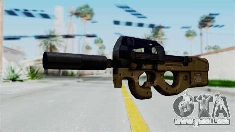 P90 Sand Frame para GTA San Andreas