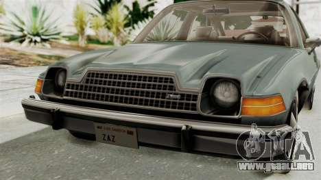 AMC Pacer 1978 IVF para vista lateral GTA San Andreas
