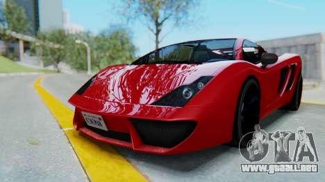 GTA 5 Pegassi Vacca SA Style para GTA San Andreas vista posterior izquierda