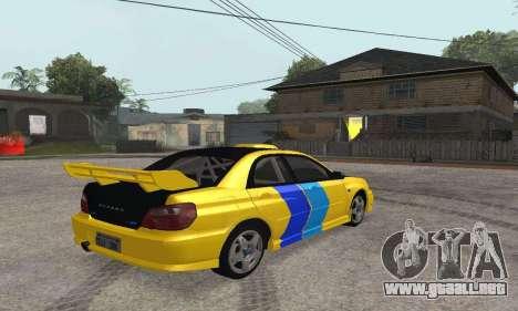 Subaru Impreza WRX STi Tunable para la visión correcta GTA San Andreas