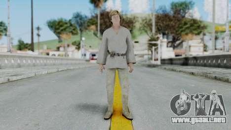 SWTFU - Luke Skywalker Tattoine Outfit para GTA San Andreas segunda pantalla