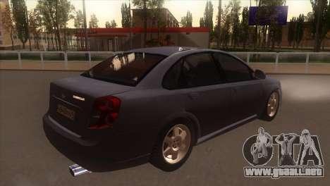 Chevrolet Lacetti Sedan para la visión correcta GTA San Andreas