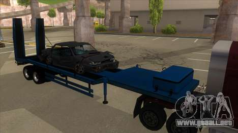 Trailer with Hydaulic Ramps para GTA San Andreas left