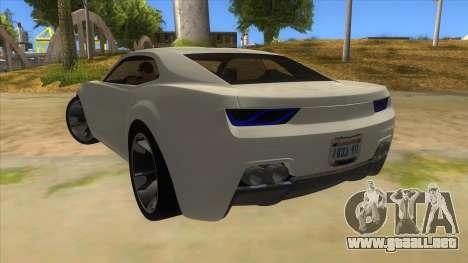 Chevrolet Camaro DOSH tuning MQ para GTA San Andreas vista posterior izquierda