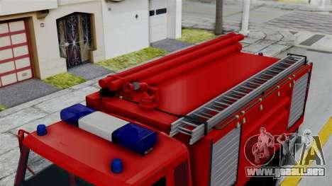 FAP Serbian Fire Truck para GTA San Andreas vista posterior izquierda
