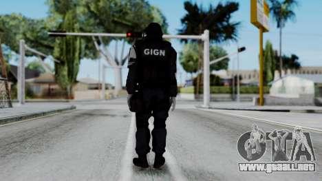 GIGN from Rainbow Six Siege para GTA San Andreas tercera pantalla