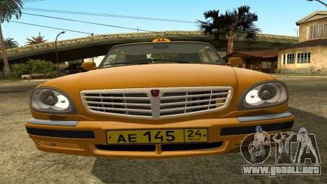 GAZ 31105 Volga Taxi FIV para vista lateral GTA San Andreas