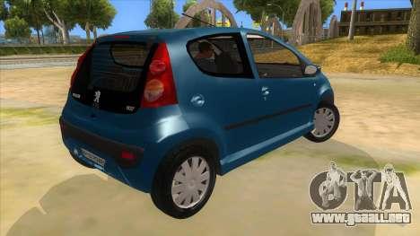 2005 Peugeot 107 V2 para la visión correcta GTA San Andreas
