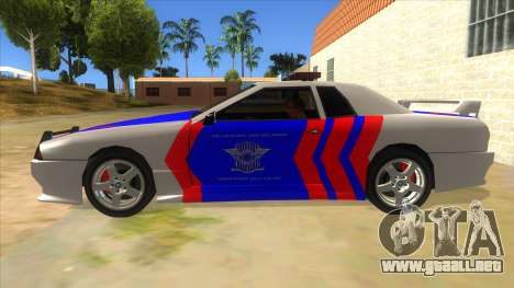Elegy NR32 Police Edition White Highway para GTA San Andreas left