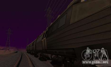 Batman Begins Monorail Train v1 para GTA San Andreas vista posterior izquierda