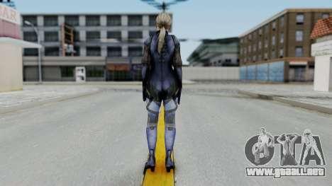 Jill Valentine Battlesuit Closed RE5 para GTA San Andreas tercera pantalla