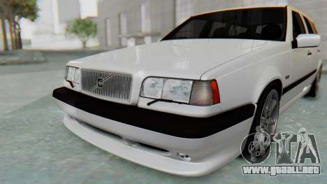 Volvo 850R 1997 Tunable para vista inferior GTA San Andreas