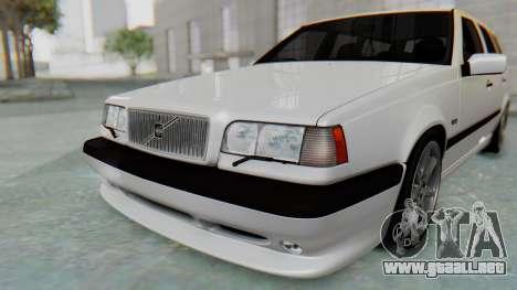 Volvo 850R 1997 Tunable para vista inferior GTA San Andreas
