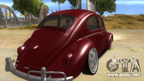 Volkswagen Beetle Aircooled V2 para la visión correcta GTA San Andreas