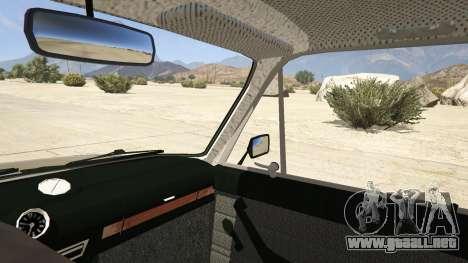 GTA 5 VAZ 2106 vista lateral trasera derecha